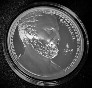 """Griechenland 2019 10 Euro Silbermünze """"Thukydides"""" PP nur 1.200 Exemplare!"""