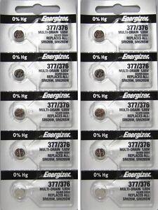 10 377 / 376 SR626SW Energizer Batteries 2 packs of 5