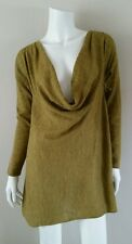 EILEEN FISHER Chartreuse Green Baby Alpaca Pullover Sweater - Size XS