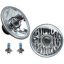 """7"""" Crystal Projector Headlight 6V 35w Halogen H4 Clear Light Bulb Headlamp Pair"""