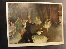 Vintage Print - Rehearsal of the Ballet on Stage - Edgar Degas