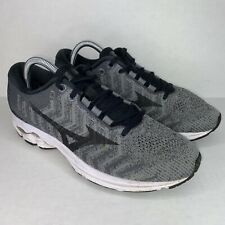Mizuno Mens US Size 8 Wave Rider 22 Knit Running Shoes Sneakers Grey Black White