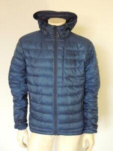 Outdoor Research Men's TRANSCENDENT HOODY Jacket Blue Down Puffer Size MEDIUM