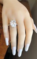 9.5 Carat Cushion Engagement Sim Diamond Ring 925 Sterling Silver Sz 5,6,7 HUGE