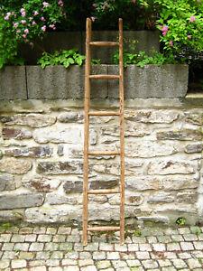 schöne alte Holzleiter_166 cm # Blumenampel/Ranke_Handtuchhalter_DEKO (Bl 18)