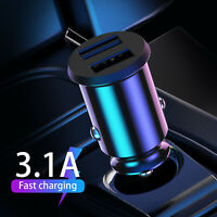 Dual USB 3.1A Car Charger Adapter Fast Charging 5V For iPhone Samsung LG HTC