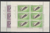 New Zealand 1961 Birds Health Blocks of 6 Inscription SG806/807 MNH X9831