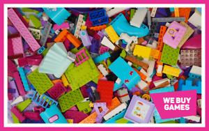 LEGO Friends 1KG Bundle - 700 Mixed Bricks, Parts, Plates & Pieces + 2 Minifigs