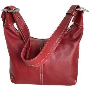 Coach Legacy Convertible Handbag Hobo Red Leather Crossbody Bag # 9566