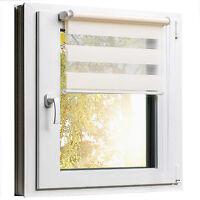Fensterrollo Rollo Sonnenschutz Klemmfix ohne Bohren Creme Beige Größe wählbar