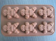 Gingerbread Man Cake Mold Flexible Silicone Mould For Candy Chocolate Soap Resin