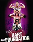 Jim Neidhart Bret & Jimmy Hart Foundation Signed 8x10 Photo PSA/DNA COA WWE Auto