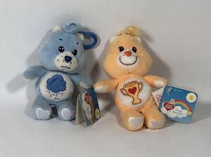 "NWT Care Bears Grumpy & Champ Bear 20th Anniversary 5"" Clip Ons"