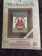 New listing Weekenders Counted Cross Stitch Kit Country Claus #03313 Jca, Inc. New/Sealed