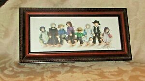 SWEET FRAMED PRINT OF AMISH CHILDREN BY FRIEMAN STOLZFUS, SIGNED