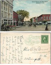 CENTRAL SQUARE & MAIN STREET ROCHESTER N.H ANTIQUE POSTCARD