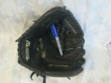 "Mizuno Black Leather Baseball Glove 12"" Model MMX123P Right Hand Throw RHT"