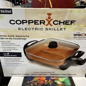 "NEW IN BOX Copper Chef 12"" Electric Skillet As Seen On TV"