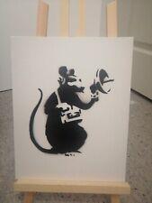 Banksy Dismaland Canvas original Spray Rat Radar / Peinture à la bombe