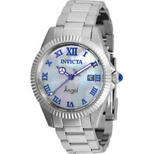 Invicta Women's Watch Angel Mother of Pearl Dial Stainless Steel Bracelet 36057