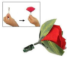 MATCH TO RED ROSE FLOWER FLAME POCKET MAGIC TRICK LIGHT STAGE STREET CHANGE $#