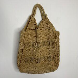 Vintage Handmade Lined Boho Peasant Shopping Beach Bag Tote
