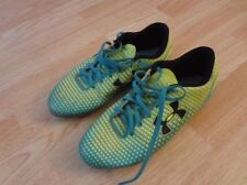 Youth Boys Under Armour Sz 5.5 Soccer Cleats Molded Rubber Teal Yellow