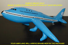 """RARE Vintage PAN AM Airlines NEW Inflatable Blue Boeing 747 Airplane 20"""" Long"""