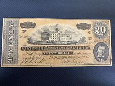 (TWO) 1862 $20 Confederate States of America - ((promotional))