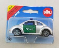 1:64 SIKU #1361 Super NEW VW BEETLE BUG POLIZEI Police Silver Green Volkswagen