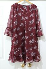 A Pea in the Pod Maternity Maroon Floral Dress size Large