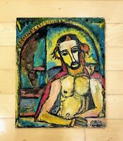GEORGES ROUAULT JESUS CHRISTOIL ON CANVAS PAINTING