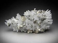 Pyrite, Chalcopyrite, and Quartz Crystals, Huaron, Peru