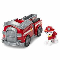 Paw Patrol Marshall Fire Truck Vehicle Collectible Figure Moveable Ladder Wheels