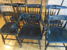 S Bent Bros Gold Stenciled Chairs  6 Avail (2) W/ Arm Rests