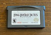 Final Fantasy Tactics Advance Nintendo Game Boy Advance Authentic Free Shipping