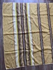 "1930s 1940s Vintage Antique Camp Blanket Cotton Wool 83""x57"""