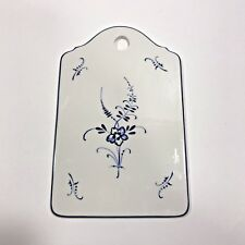 Villeroy Boch Vieux Luxembourg White Blue Floral Cheese Cracker Board Tray Plate
