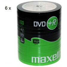 MAXELL DVD+R Blank Recordable Digital Disc DVDR 4.7GB 16x SPEED 120mins 100Pk x6