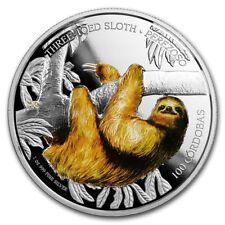Nicaragua- 2018 - Silver 100 Cordobas Proof - 1 OZ Three-Toed Sloth
