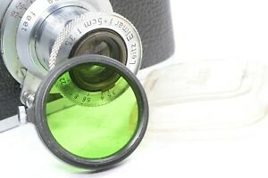Leica Leitz GREEN FILTER  A36 FIPOS for Elmar, Hektor, Summar, Summaron