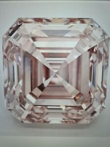 Loose natural Diamond Asscher 1.26  Ct VVS1 Fancy Intense Pink Nat