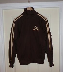 FABULOUS FLY HIGH by WAVE PIAGGIO VESPA BROWN ZIP UP JACKET , Size Large