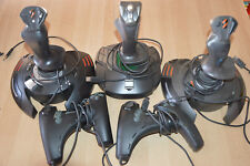 lot 3 Joystick Thrustmaster + 2 manettes microsoft / Top Gun Fox 2 -Flight Stick