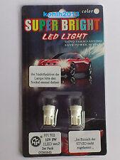 2 x LED Glühlampe 12V 5W WEISS Birne Lampe Standlicht Instrumente
