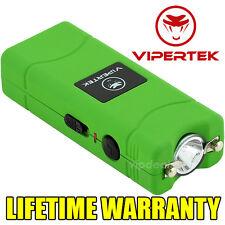 VIPERTEK GREEN VTS-881 110 MV Mini Rechargeable LED Police Stun Gun + Taser Case