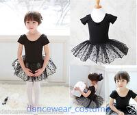 New Kids Girls Party Leotard Ballet Costume Tutu Skirt 3-8Y Princess Dance Dress