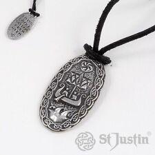 """Nuevo St Justin viajero """"s Encanto Colgante Collar Peltre UK Made"""
