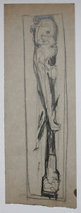 Abstract figure by KURT GOEBEL (1906–1991) Vienna Secession, Austrian artist