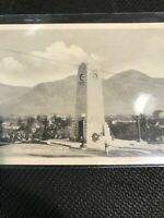 Postcard Cenotaph Kamloops B.C. Clock Monument With View Of Town , P05
